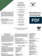 Tripticos Comunicacion Tecnologia Educativa