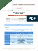 PROGRAMA - CONGRESO BOLIVIANO DE DERECHO CONSTITUCIONAL 2013