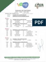 Programa de Partidos LFPB Copa TIGO 2013 2014