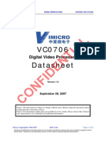 VC0706 Digital Video Processor Datasheet