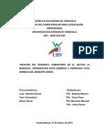 Creacion de Un Periodico Comunitario en El Sector La Mariquita de Ciudad Bolivar