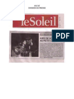 Dossier Presse - Alcaz