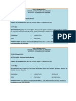 Fichas de Requisitos
