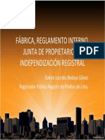INDEPENDIZACION REGISTRAL