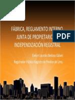 INDEPENDIZACION REGISTRAL