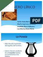 RESEÑA Y CARACTERÍSTICAS DEL GÉNERO LIRICO
