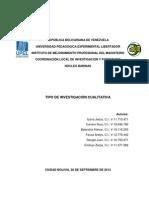 Sandra Mercado - Investigacion Cualitativa