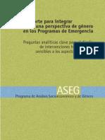 Preguntas analíticas clave para el diseño de intrevenciones sensibles a enf genero