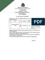 Institute of Physics Notification - Scientific Asst Posts