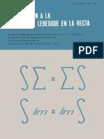 Introduccion a la Integral de Lebesgue en la recta