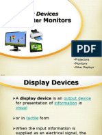12. Monitors, Display Devices