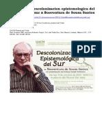131011 Vi Descolonizacion Epistemologica Del Sur x Boaventura de Sousa Santos