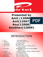 Telecommunication Ppt on Airtel