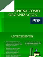 1.- La empresa como organización