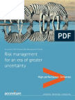 Accenture Risk Management Research for an Era of Greater Uncertainty Report