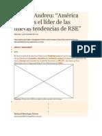 GESTION América Latina es el líder de las nuevas tendencias de RSE