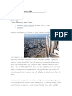 Urban Planning Article