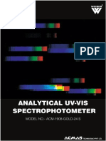 Analytical UV VIS