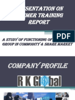 Presentation on summer training report of Commodity Market