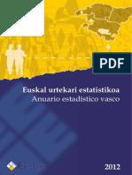 Anuario estadístico vasco 2012
