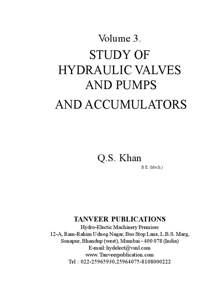 Volume 3 study of hydraulic valves pumps and accumulators study of hydraulic valves pumps and accumulators pump valve biocorpaavc