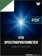 VIS Spectrophotometer Uv 2601