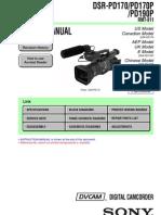 Sony DSR-PD170, DSR-PD190 MiniDV Camera