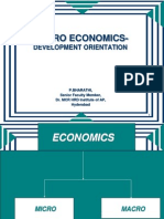 Macro Economics- Development Orientation