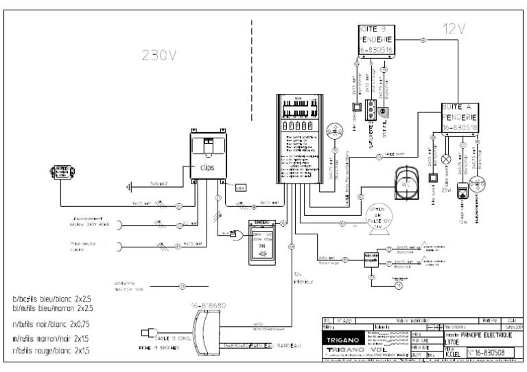 Schaltplan Wiring Diagram Sterckeman Starlett 370 Ce