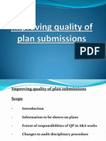Improving Quality of Plan Submission