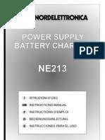 MAN-NE213_R0 Nordelettronica NE 213 Battery Charger Power Supply Schaltplan Wiring Diagram Sterckeman Starlett 370 CE