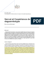 ROUBERT, Nerval et l'expérience du daguerréotype (1998)