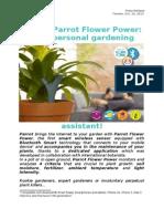 Press Release Parrot Flower Power (CA)