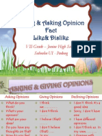 Giving & Asking Opinion