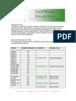 ColaMulse Emulsifiers