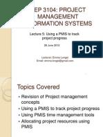 Lecture 5 PMIS