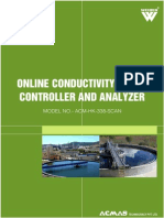 Online Conductivity Meter Controller and Analyzer