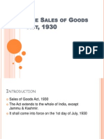 Sales of Goods Act, 1930