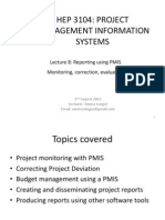 Lecture 8 Reporting Using PMIS