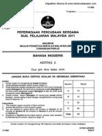 Soalan Percubaan SPM Bahasa Inggeris Kertas 2 Perlis 2011
