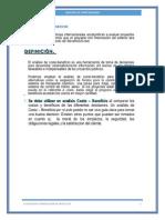 ANÁLISIS COSTO BENEFICIO INFORME