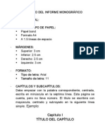 FORMATO DEL INFORME MONOGRÁFICO