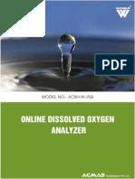 Online Dissolved Oxygen Analyzer
