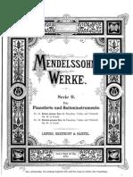 Mendelssohn Felix Piano Trio in C Minor Op. 66 No. 2