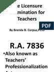 The Licensure Examination for Teachers- Butuan, Nov. 25-1