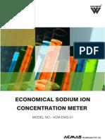 Economical Sodium Ion Concentration Meter