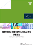 Fluoride Ion Concentration Meter