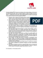 Comunicado conjunto Esquerda Unida -- Espazo Ecosocialista Galego