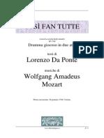 Così fan tutte - W.A. Mozart Libretto