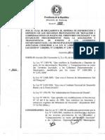 Decreto 7888-06 REGLAMENTARIO LEY 1309-98